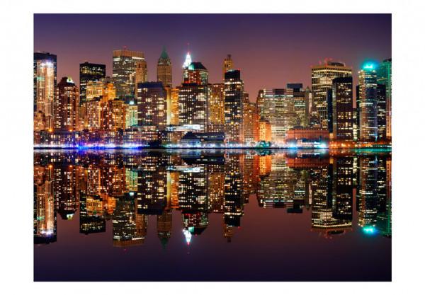 Fototapet - Gold reflections - NYC