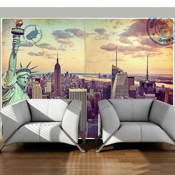 Fototapet - Postcard from New York