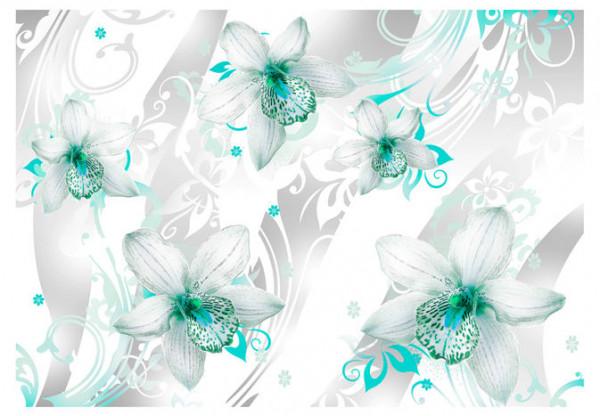 Fototapet - Sounds of subtlety - turquoise