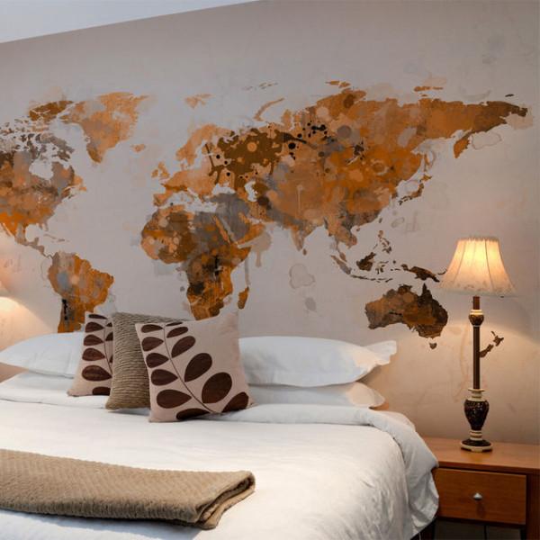 Fototapet - World in brown shades