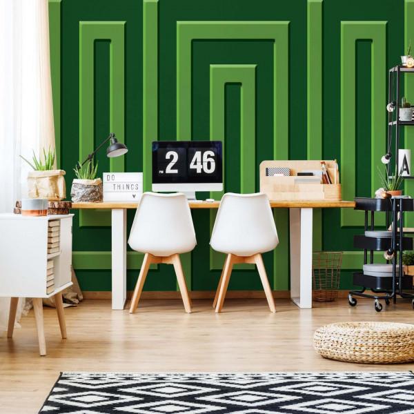 Green Geometric Pattern Photo Wallpaper Wall Mural