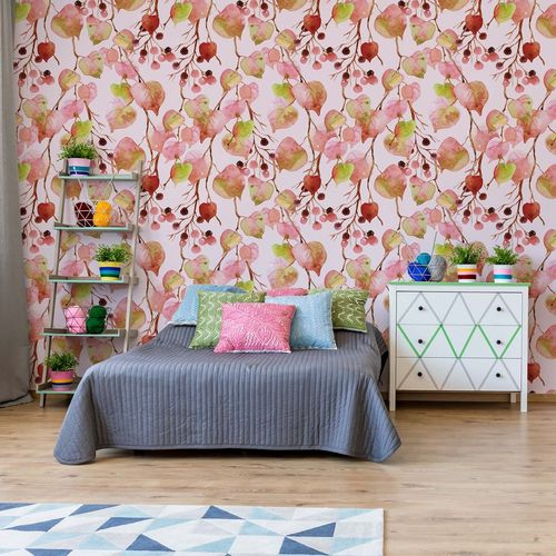 Modern Flamingo Tropical Pattern Photo Wallpaper Wall Mural