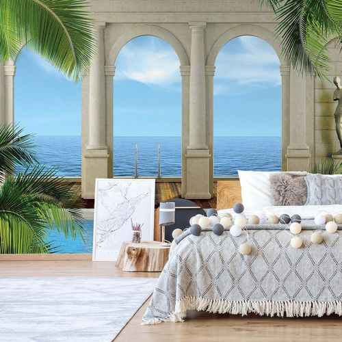 Ocean 3D Archway View Photo Wallpaper Wall Mural