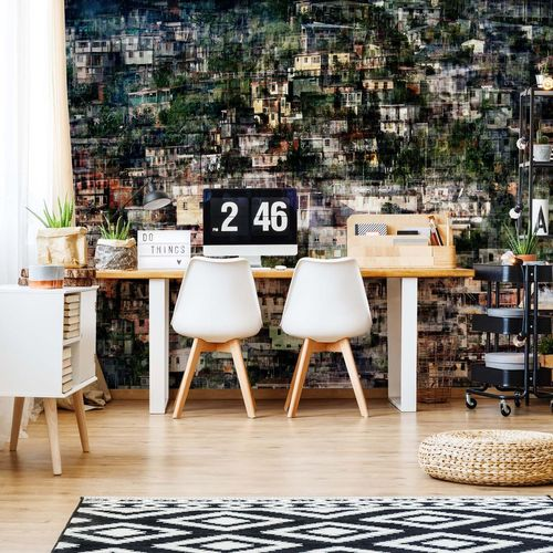Overcrowded Photo Wallpaper Mural