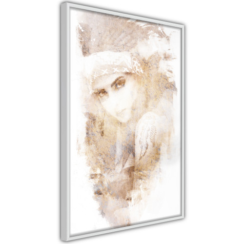 Poster - Mysterious Look (Beige)