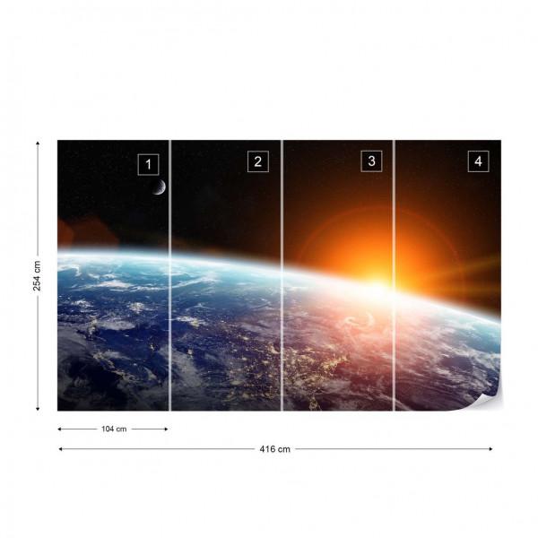 Sunrise Over Planet Earth Photo Wallpaper Wall Mural