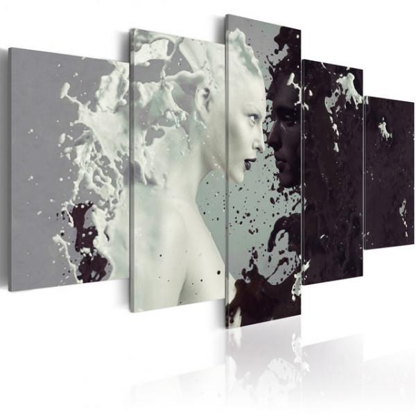 Tablou - Black or white? - 5 pieces
