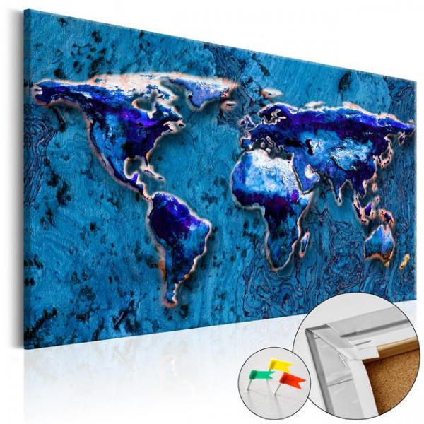 Tablou din plută - Cobalt Immersion [Cork Map]