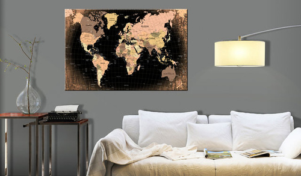 Tablou din plută - Planet Earth [Cork Map]