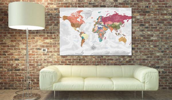 Tablou din plută - Travel Around the World [Cork Map]