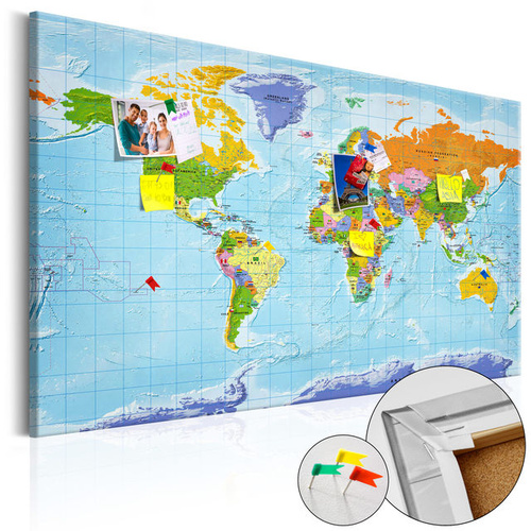 Tablou din plută - World Map: Countries Flags [Cork Map]