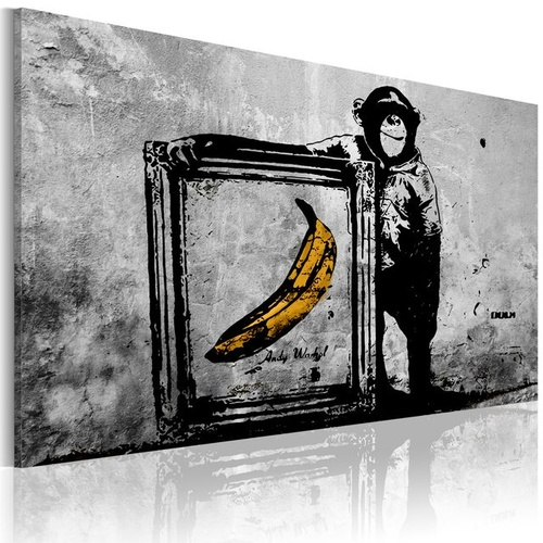 Poze Tablou - Inspired by Banksy - black and white