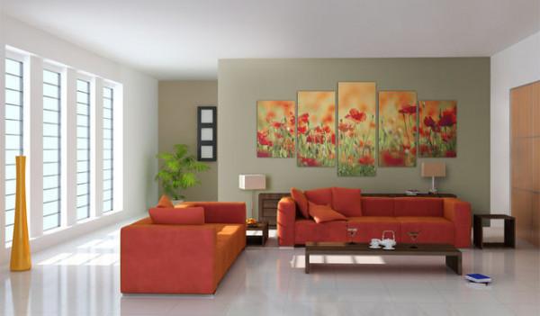 Tablou - Poppies in vivid colors