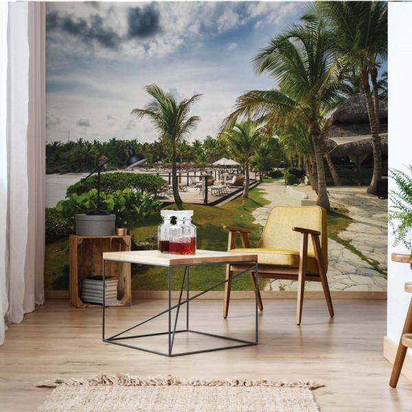 Tropical Palms Photo Wallpaper Wall Mural