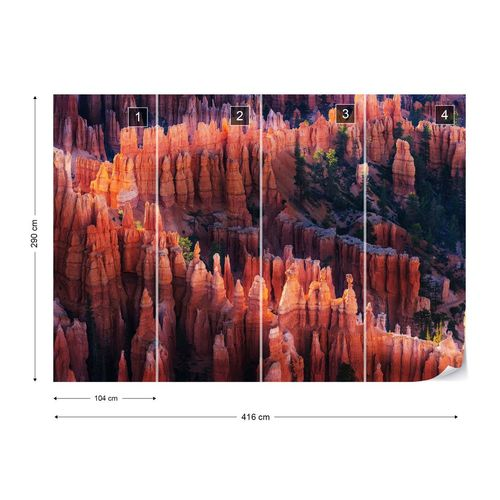 Bryce Canyon At Sunset Photo Wallpaper Mural