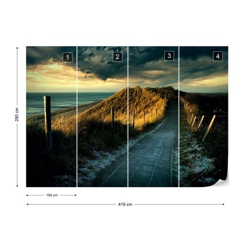 Cold Fence Photo Wallpaper Mural