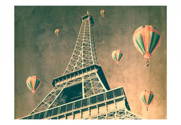 Fototapet - Balloons over the Eiffel Tower