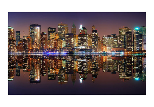 Poze Fototapet - Gold reflections - NYC