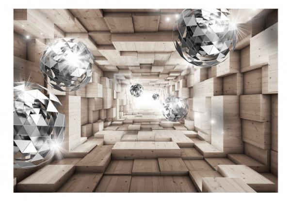 Fototapet - In A Wooden Tunnel