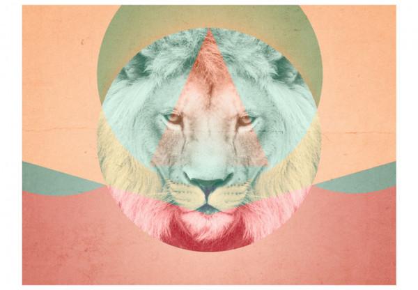 Fototapet - lion (graphic pattern)