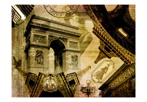 Poze Fototapet - Parisian collage