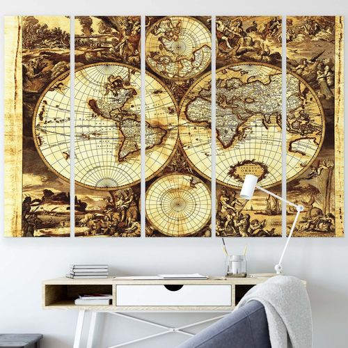 Maps Canvas Photo Print