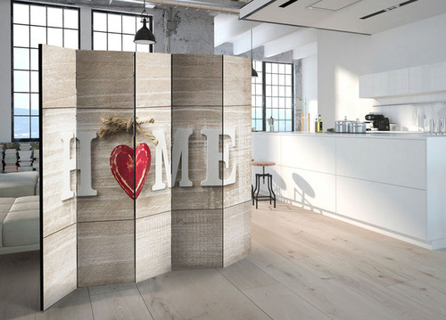 Poze Paravan - Room divider - Home and red heart