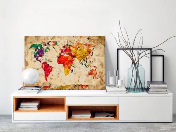 Pictatul pentru recreere - World Map (Colour Splashes)