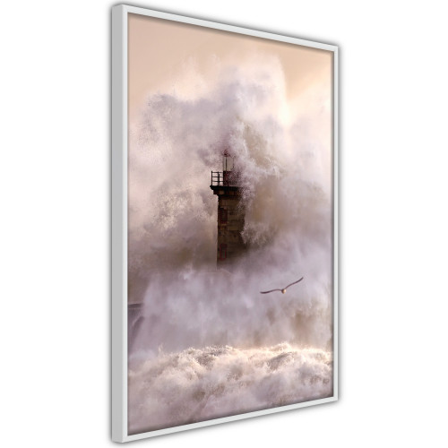 Poster - Lighthouse During a Storm