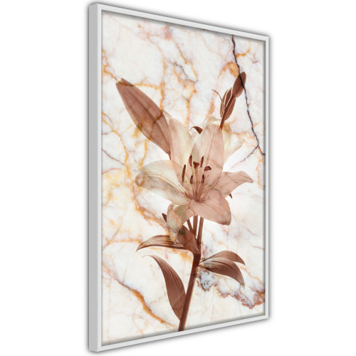 Poster - Lily on Marble Background