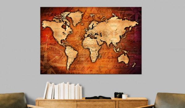 Tablou din plută - Amber World [Cork Map]