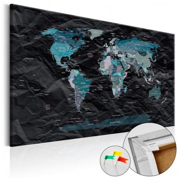 Tablou din plută - Black Ocean [Cork Map]