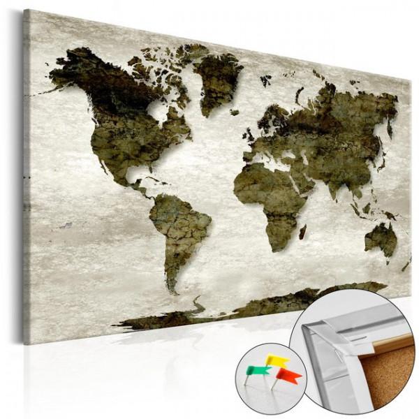 Tablou din plută - Green Planet [Cork Map]