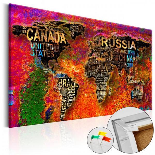 Tablou din plută - Impressive World [Cork Map]