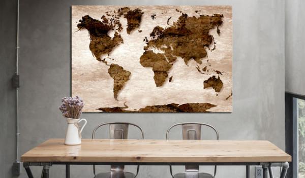 Tablou din plută - The Brown Earth [Cork Map]