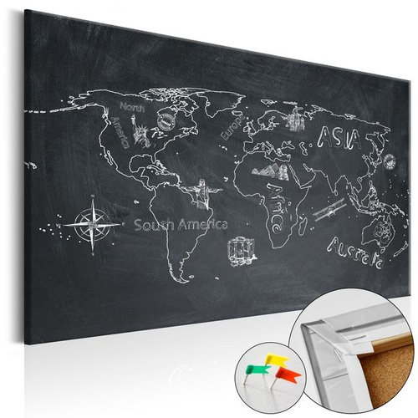 Tablou din plută - Travel broadens the Mind [Cork Map]