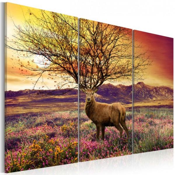 Tablou - Fancy antler - triptych