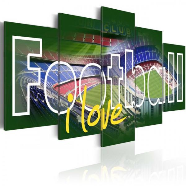 Tablou - I Love Football