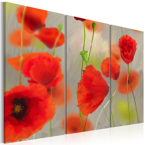 Tablou - In the thicket of poppies - triptych