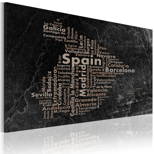 Poze Tablou - Text map of Spain on the blackboard