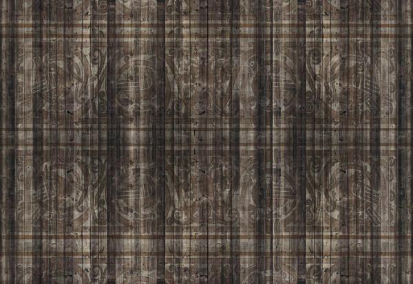 Dark Wood Planks Pattern Photo Wallpaper Wall Mural