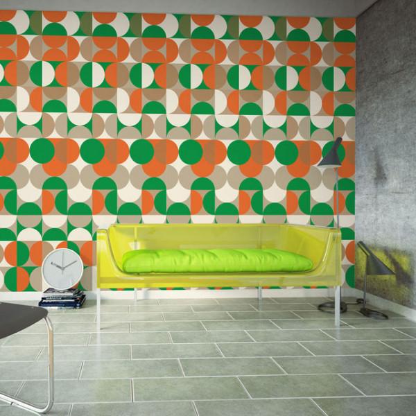 Fototapet - Avant-garde graphic pattern