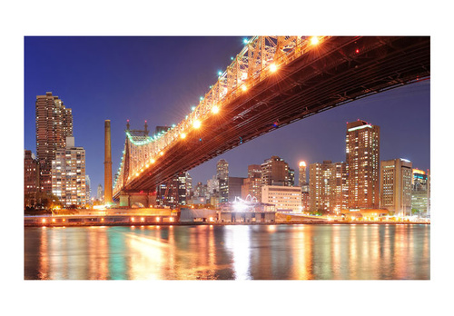 Poze Fototapet - Fiery Brooklyn Bridge