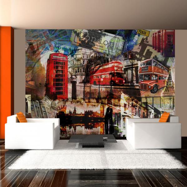 Fototapet - London collage