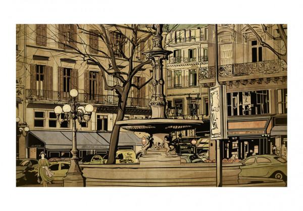 Fototapet - Parisian fountain