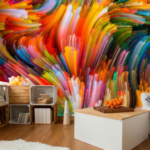 Fototapet - Rainbow Waves