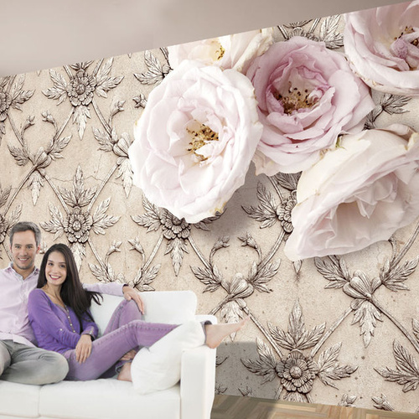 Fototapet - Romantic beige