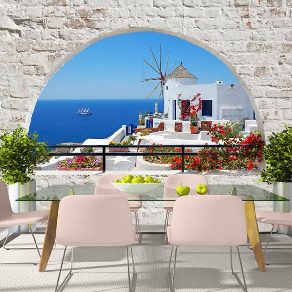 Fototapet - Summer in Santorini