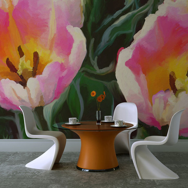 Fototapet - tulips - duo
