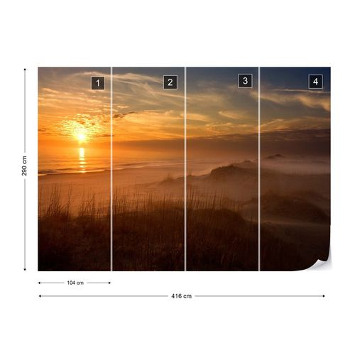 Golden Moment Photo Wallpaper Mural